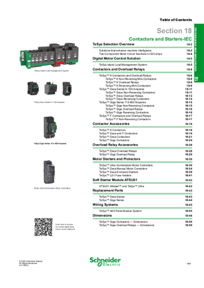 Digest 178 Catalog 18: Contactors and Starters-IEC
