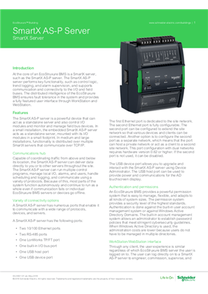 SmartX AS-P Server Specification Sheet