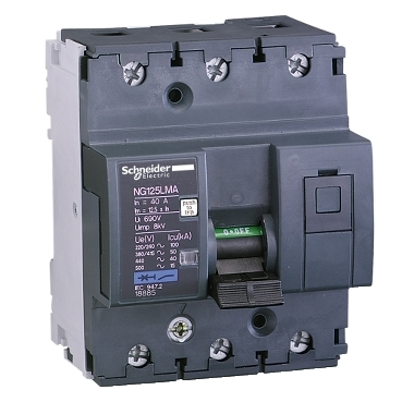 Motor protection Miniature Circuit Breaker up to 80A