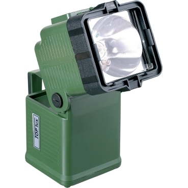 Powerful rechargeable lamp for military and professional use
