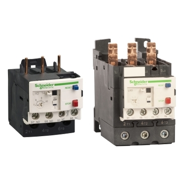 Thermal overload relay with manual or automatic reset from 0.1 to 150 A and 0.06 to 75 kW