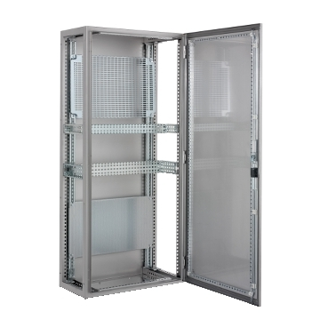 Stainless-steel suitable floor-standing enclosures