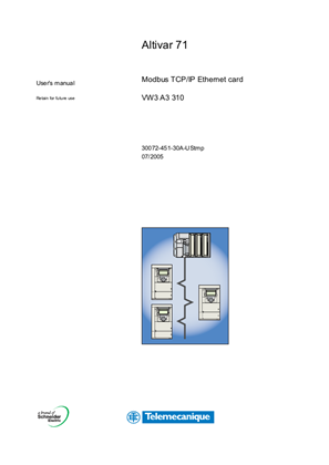 Altivar 71 Modbus TCP/IP Ethernet Card VW3A3310