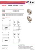 Technical Datasheet for 3110CPRJ Series of Couplers