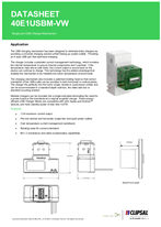 Technical Datasheet for 40E1USBM ICONIC Single USB Charger Mechanism