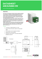 Technical Datasheet for 40E2USBM series ICONIC Dual USB Charger Module
