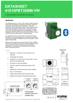 Technical Datasheet for 41E10PBT3SBM ICONIC 3 Wire Pushbutton Timer with BLE