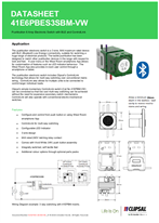 Technical data sheet for ICONIC 41E6PBES3SBM Electronic Switch with BLE