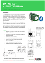 Technical Data Sheet for ICONIC 41E6PBT3SBM Electronic Timer with BLE