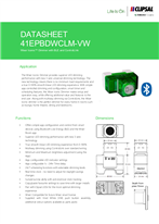 Technical Data Sheet Wiser for ICONIC 41EPBDWCLM Dimmer with BLE