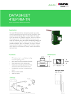 Technical Data Sheet for ICONIC 41EPIRM PIR Sensor Mech