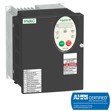 Dedicated HVAC drives for 0.75 to 75 kW motors