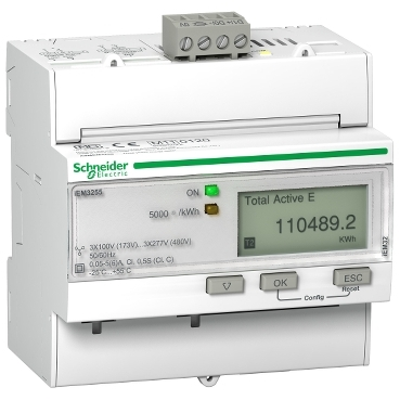 3-phase DIN rail-mounted energy meters