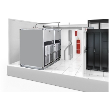 Module Optimized Cooling schneider.label Efficient cooling solutions optimized for SmartShelter Modules and Containers. Accomodates a range of capacities from 5-30kW per rack and available in DX, chilled water, and air economizer systems.