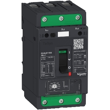 Motor circuit breakers up to 115 A and 55 kW