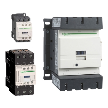 Contactors and reversing contactors up to 150A for inductive motor and 250A for resistive loads