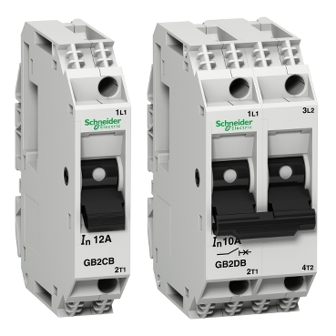 Thermal magnetic circuit breakers from 0.5 to 20 A