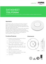 Technical Data Sheet for 755LPSMA4 10yr Lithium Smoke Alarm