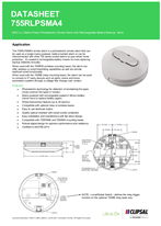 Technical Data Sheet for 755RLPSMA4 Smoke Alarm