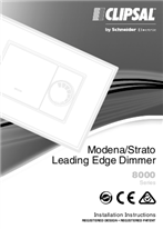 Installation instruction for 80E450LM Series Leading Edge Rotary Dimmer