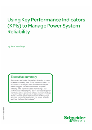 Using Key Performance Indicators (KPIs) to Manage Power System Reliability