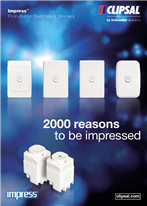 Impress Push-Button Switches & Dimmers. 2000 reasons to be impressed, 25007