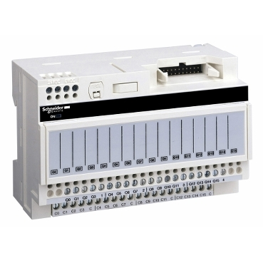 Pre-wired system enabling connection and adaptation of control signals of PLC cards equipped wuth HE10 connectors