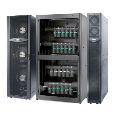 Close-coupled, chilled water cooling for medium to large data centers