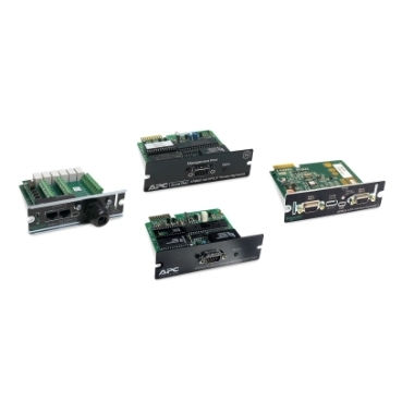 Additional Management Cards and Options schneider.label Interface expanders and other options for increased UPS monitoring and control functionality