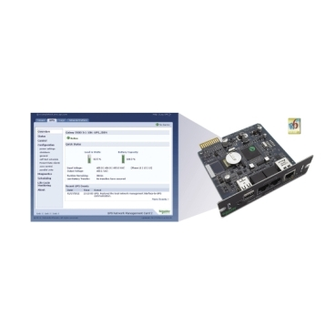 Remote monitoring and control of an individual UPS by connecting it directly to the network.