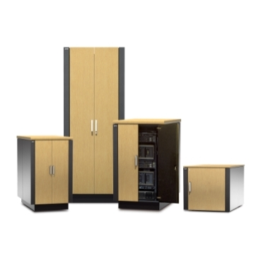 A soundproofed server room in a box which allows for IT deployment wherever and whenever it is needed, saving space, cost and deployment time.