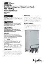 Installation Manual | ASCO SERIES 300 Quick Connect Power Panel (QC) | 1200-1600 Amps | 381333-465