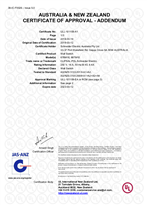 Certificate of Approval - Addendum