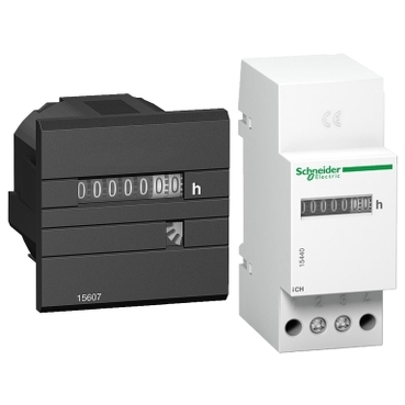Panel & DIN-rail mounted hour counters