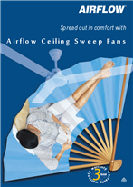 Spread out in comfort with Airflow Ceiling Sweep Fans