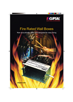 Fire Rated Wall Boxes, Now acoustically rated and designed for easy fixing
