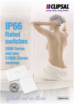 IP66 Rated Switches 2000 Series and new C2000 Classic switches, Splash out on these