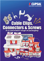 Cable Clips Connectors and Screws in a convenient range of packaging