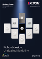 Brochure for Medium Power Universal Dimmer 800W. Robust design