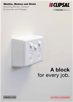 A block for every job. Slimline, Modena and Strato Mounting Blocks, Surface Enclosures and Flanges, 26456