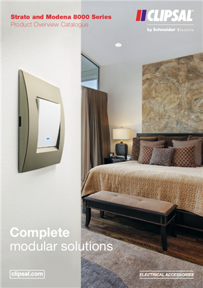 Strato and Modena 8000 Series Product Overview Catalogue. Complete modular solutions, 23457