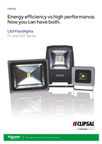 FL and FLP Series LED Floodlights. Energy efficiency vs high performance. Now you can have both, 112002