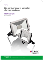 FLS Series LED Floodlights Big performance in a smaller, slimmer package, 119453