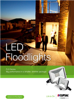 LED Floodlights FLS Series. Big performance in a smaller, slimmer package, 148602