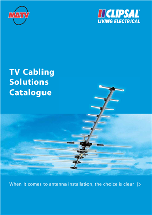 TV Cabling Solutions Catalogue, 11954