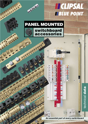 Panel Mounted Switchboard Accessories Technical Data, 16200
