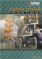Extra Tough Gaskets can wash down at 1600psi