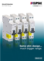 Circuit Protection Slim RCBO Range. Same slim design... much bigger range, 26587