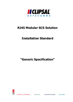 Technical Specifications - Generic specification