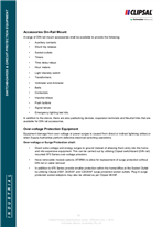 Technical Specifications - Over - voltage Protection Equipment